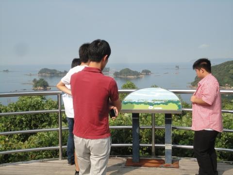 九十九島の見える展望台。